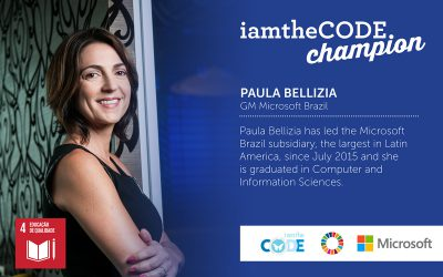 Welcoming Paula Bellizia, GM of Microsoft Brazil, as board member and champion